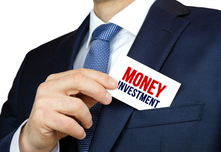 Money Investment - business card advice Imagens