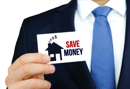 Save Money - business card concept Imagens