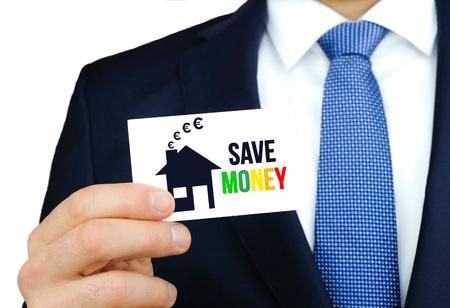 Save Money - Euro business card concept Imagens