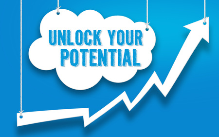 UNLOCK YOUR POTENTIAL word concept