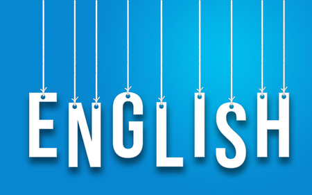 ENGLISH word concept Imagens