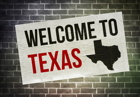 Welcome to Texas - poster concept Imagens