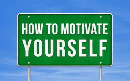 How to motivate yourself - street sign Imagens