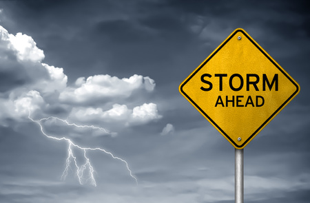 Storm ahead - street sign