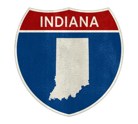 Indiana Interstate road sign map