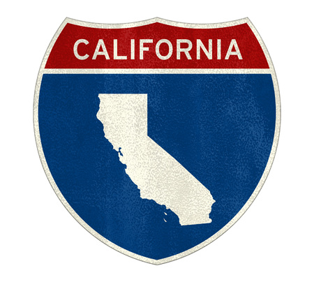 California Interstate road sign map