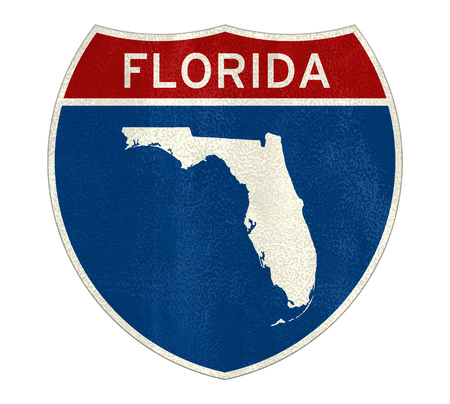 Florida Interstate road sign map