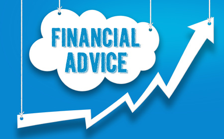 FINANCIAL ADVICE word concept Imagens