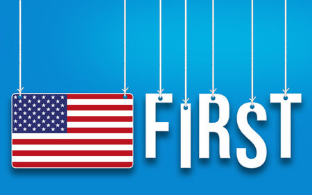 America First word concept