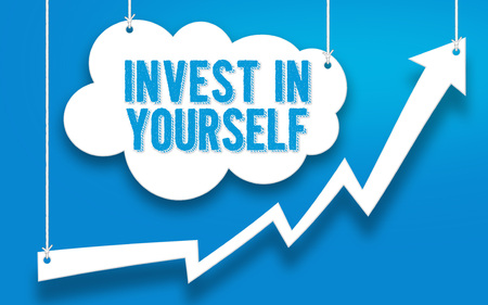 INVEST IN YOURSELF word concept