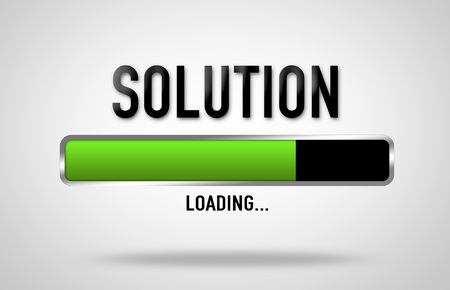 Solution loading process Imagens - 106507632