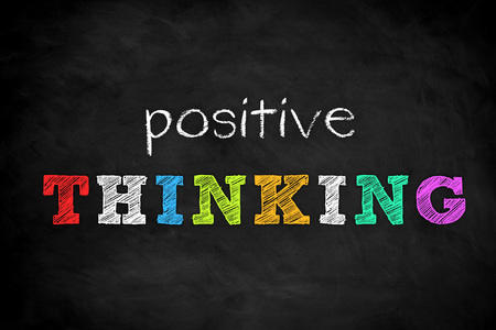 Positive Thinking - chalkboard concept Imagens - 106507634