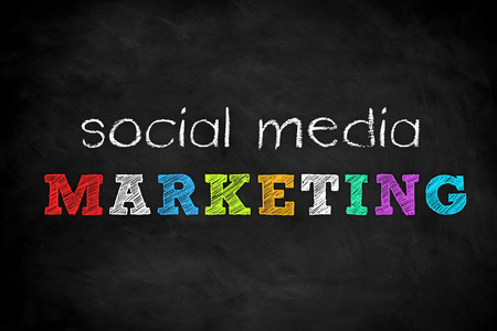 Social Media Marketing - chalkboard concept Imagens - 106507636