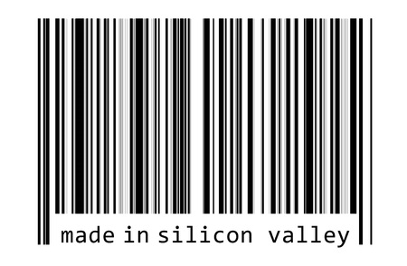 Made in Silicon Valley - bar code Imagens - 109015091
