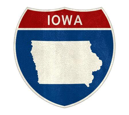 Iowa Interstate road sign