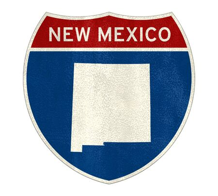 New Mexico Interstate road sign