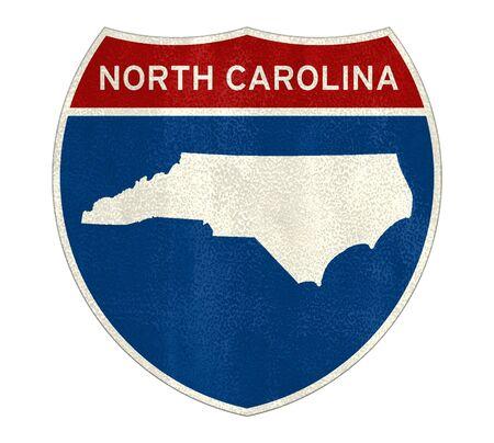 North Carolina Interstate road sign