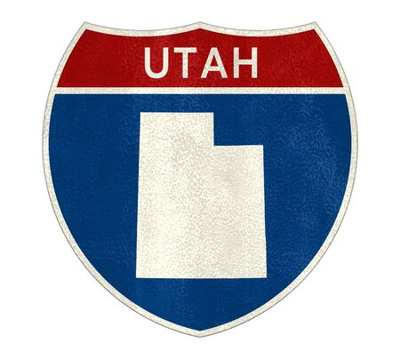Utah Interstate road sign