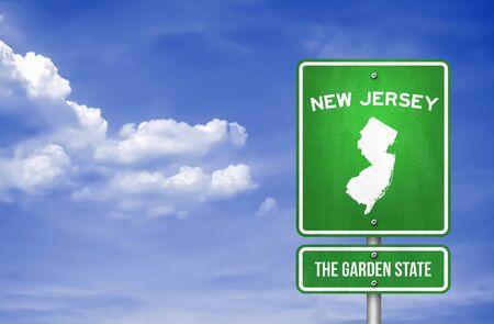 New Jersey - New Jersey Highway sign - Illustration Stok Fotoğraf