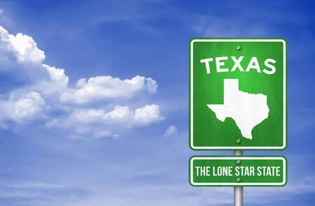 Texas - Texas Highway sign - Illustration