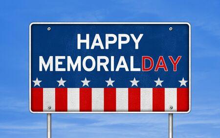 Happy Memorial Day - American federal holiday Stok Fotoğraf