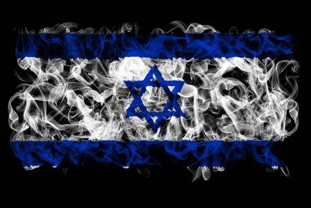 Smoking flag of Israel Stok Fotoğraf