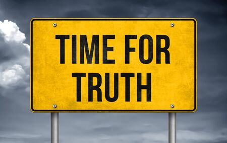 Time for Truth - road sign concept Stok Fotoğraf