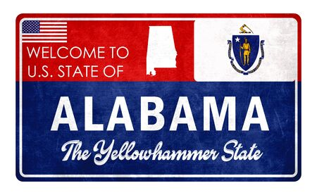 Welcome to Alabama - grunde sign Imagens - 126364670