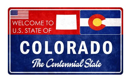 Welcome to Colorado - grunde sign Imagens - 126364676