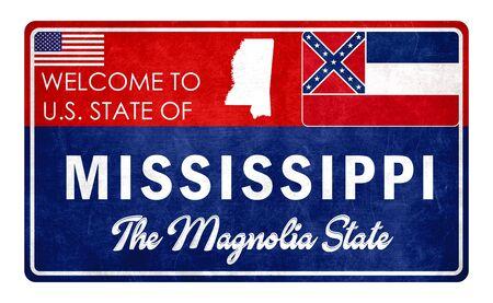 Welcome to Mississippi - grunde sign Imagens - 126364687