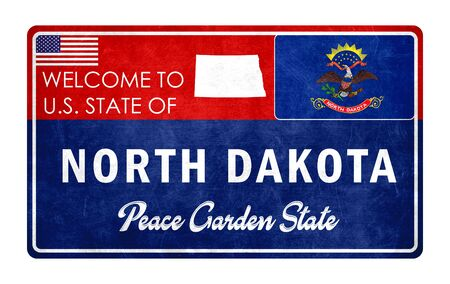 Welcome to North Dakota - grunde sign Imagens - 126365979