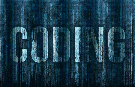 Coding abstract in blue