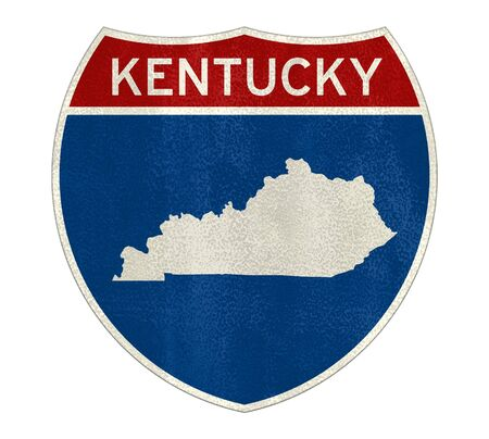 Kentucky Interstate road sign map Stock Photo