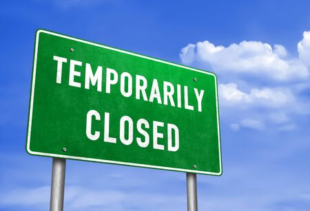 temporarily closed - road sign information