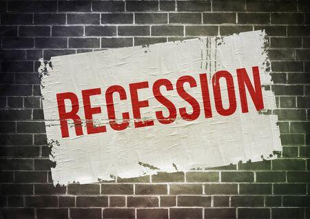 Recession - temporary economic decline warning