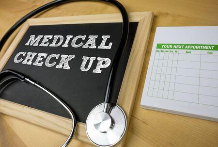 Medical Check Up - chalkboard message