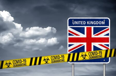 United Kingdom under quaratine during coronavirus Imagens