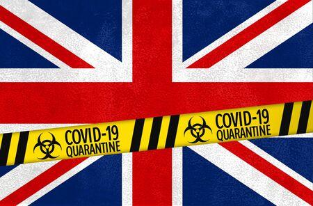 United Kingdom under quaratine during the coronavirus