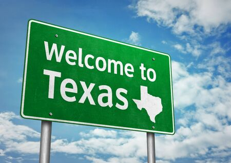 Welcome to Texas - roadsign message
