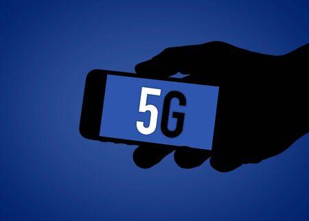 5G - digital social media illustration