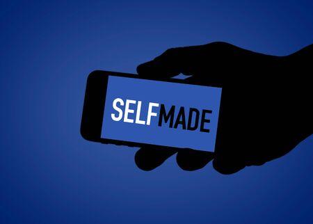 SELF MADE - digital social media illustration