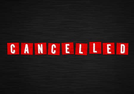 Canceled stock illustration. Canceled information message 免版税图像