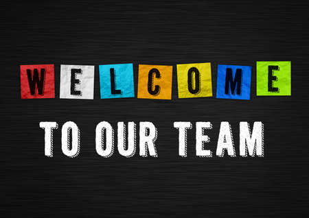 Welcome to our team - welcome message 免版税图像