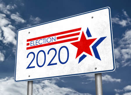 Presidential Election 2020 in the United States of America - roadsign information