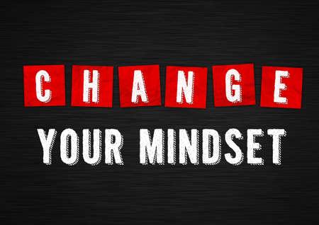 Change our mindset - motivational message 免版税图像