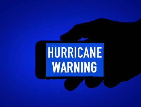Hurricane warning app - mobile phone warning