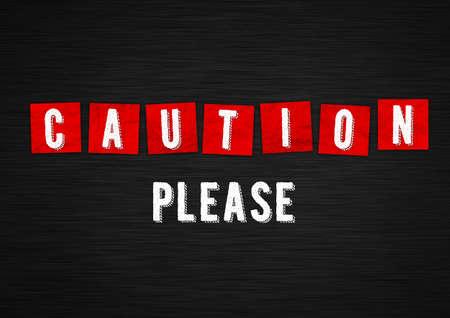 Caution please. We need your attention 免版税图像