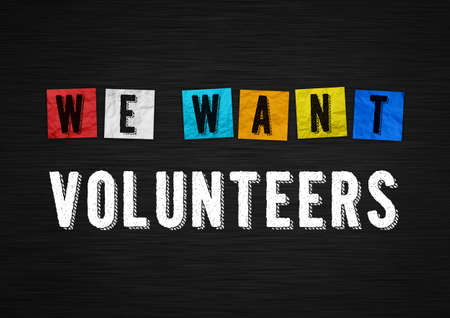 We want volunteers - illustration message