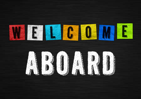 Welcome Aboard - illustration message