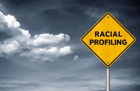 Racial Profiling - road sign message 免版税图像